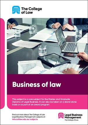 Business of law Brochure