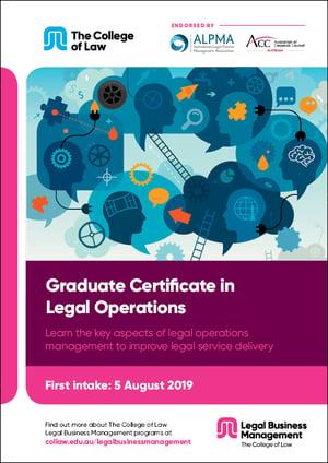 Graduate Certificate in Legal Operations Brochure
