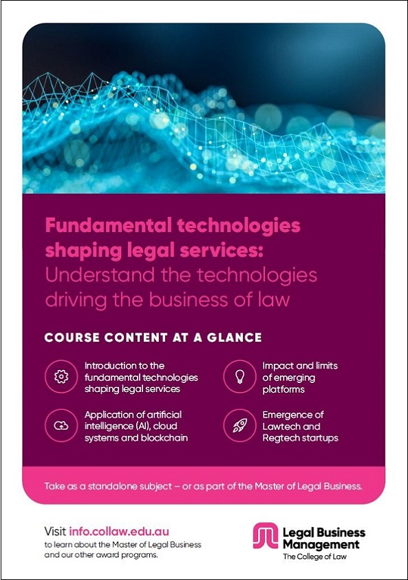 Fundamental technologies shaping legal services Brochure