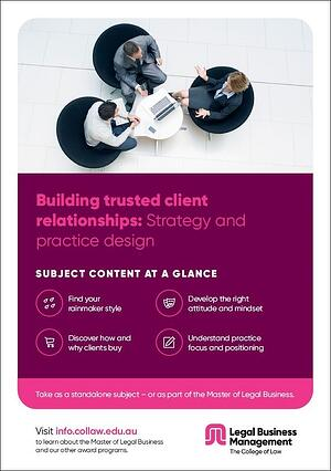 Building trusted client relationships - Strategy and practice design Brochure